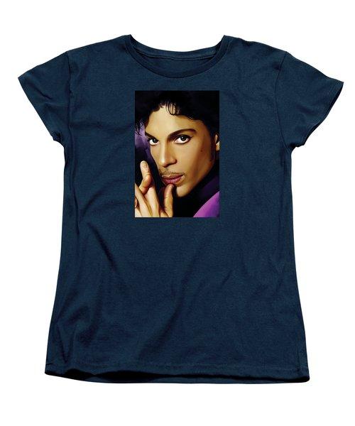 Prince Artwork Women's T-Shirt (Standard Cut) by Sheraz A