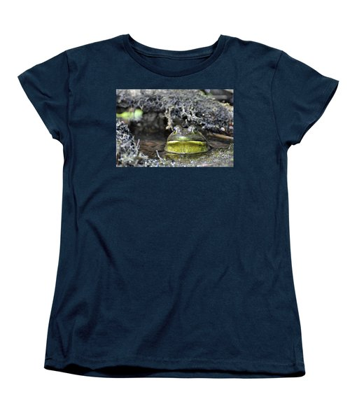 Women's T-Shirt (Standard Cut) featuring the photograph Bullfrog by Glenn Gordon
