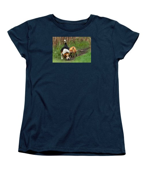 Probably The World's Worst Hunting Dog Women's T-Shirt (Standard Cut) by Mircea Costina Photography