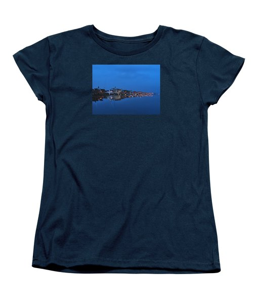 Promenade In Blue  Women's T-Shirt (Standard Cut) by Spikey Mouse Photography