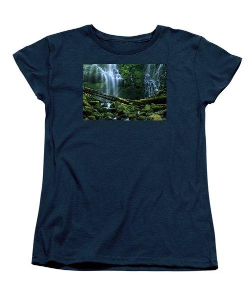 Proxy Falls Women's T-Shirt (Standard Cut) by Bob Christopher