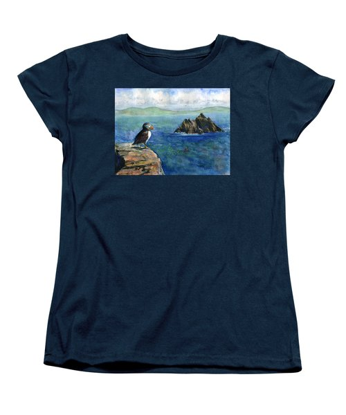 Puffin At Skellig Island Ireland Women's T-Shirt (Standard Cut)