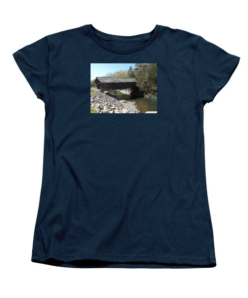 Pumping Station Covered Bridge Women's T-Shirt (Standard Cut) by Catherine Gagne
