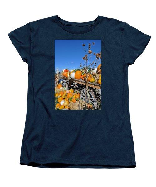Women's T-Shirt (Standard Cut) featuring the photograph Pumpkin Farm by Minnie Lippiatt