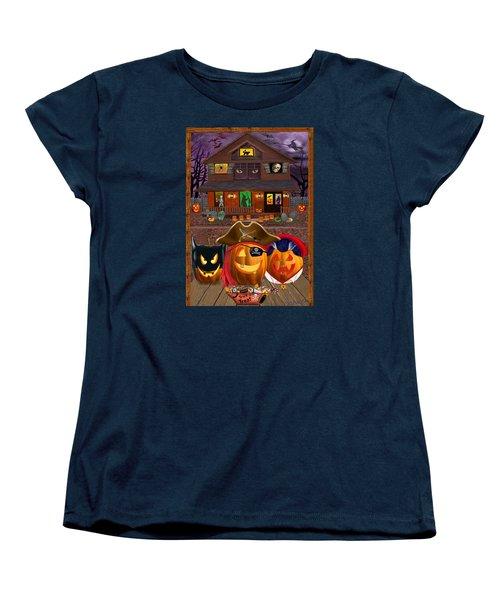 Pumpkin Masquerade Women's T-Shirt (Standard Cut) by Glenn Holbrook