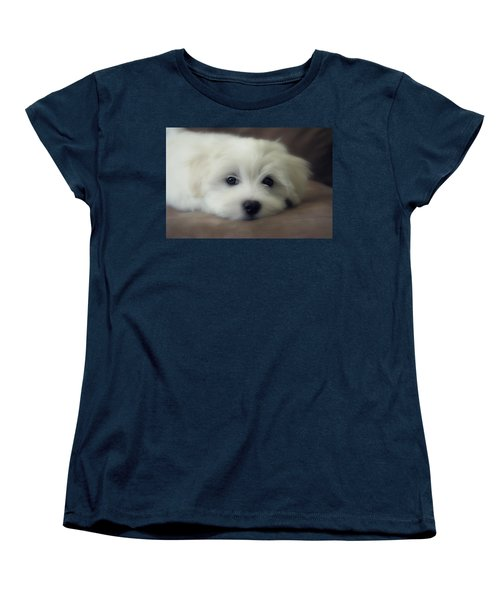 Puppy Eyes Women's T-Shirt (Standard Cut) by Melanie Lankford Photography