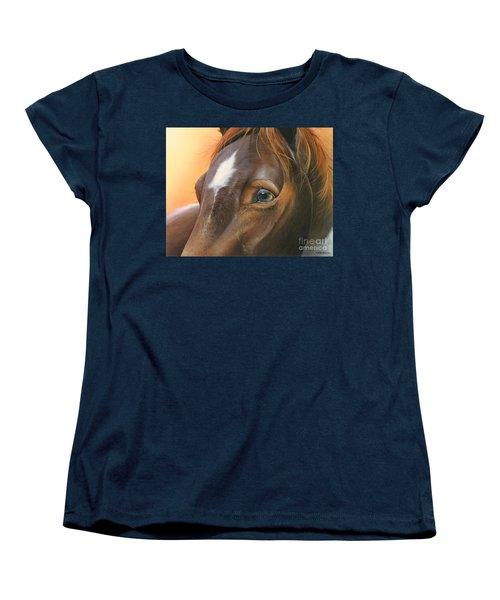 Women's T-Shirt (Standard Cut) featuring the painting Pure Grace by Mike Brown