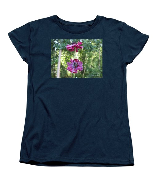 Women's T-Shirt (Standard Cut) featuring the photograph Purple Flowers by HEVi FineArt