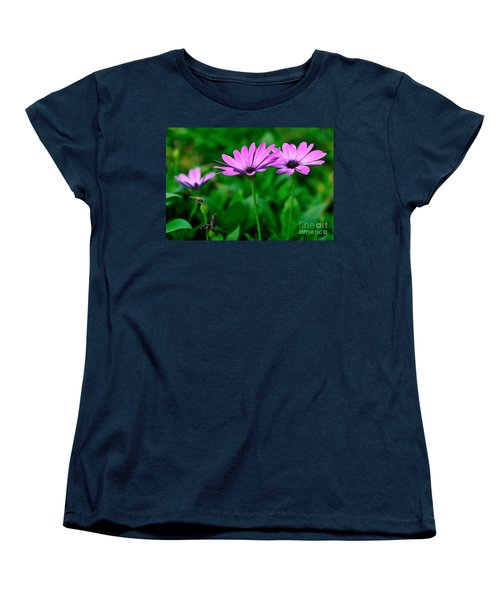 Women's T-Shirt (Standard Cut) featuring the photograph Purple Flowers by Joe  Ng