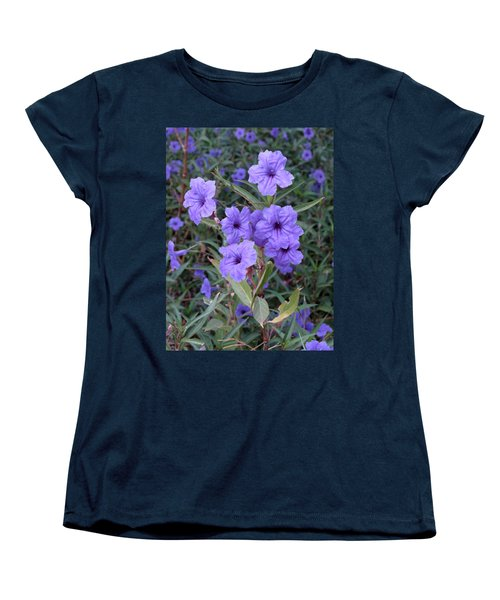 Women's T-Shirt (Standard Cut) featuring the photograph Purple Flowers by Laurel Powell