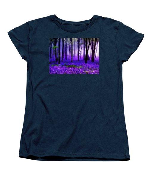 Purple Forest Women's T-Shirt (Standard Cut) by Bruce Nutting
