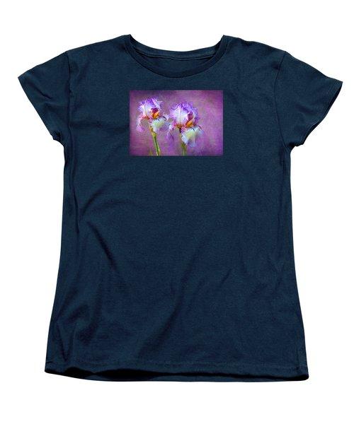 Purple Iris Women's T-Shirt (Standard Cut) by Lena Auxier