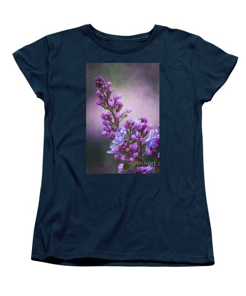 Purple Lilacs Women's T-Shirt (Standard Cut)