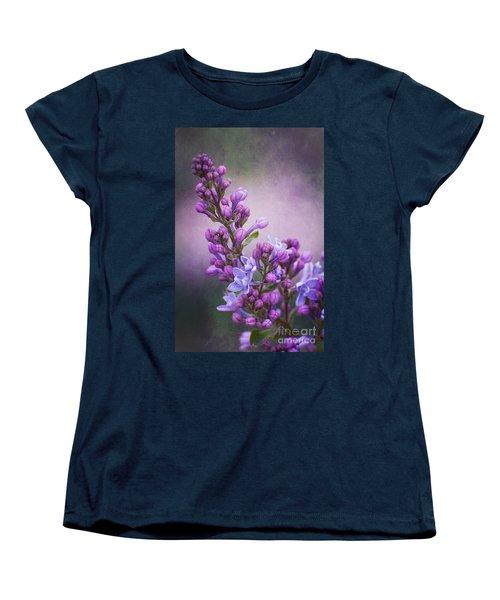 Purple Lilacs Women's T-Shirt (Standard Cut) by Bianca Nadeau