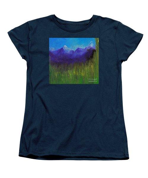 Purple Mountains By Jrr Women's T-Shirt (Standard Cut) by First Star Art