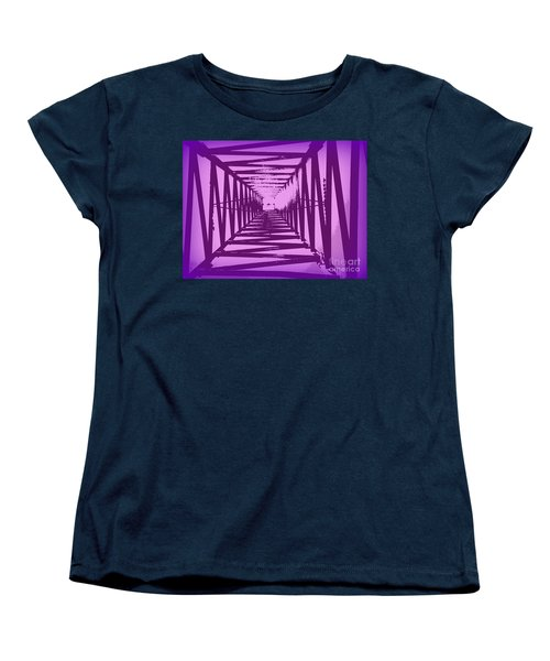 Women's T-Shirt (Standard Cut) featuring the photograph Purple Perspective by Clare Bevan