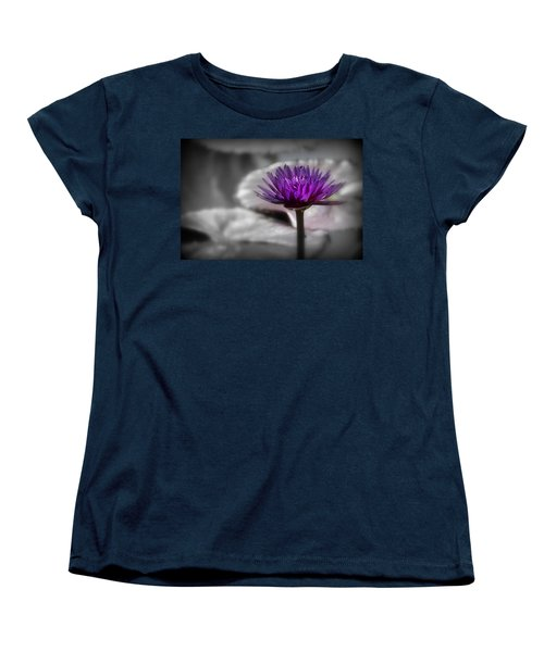 Purple Pond Lily Women's T-Shirt (Standard Cut)