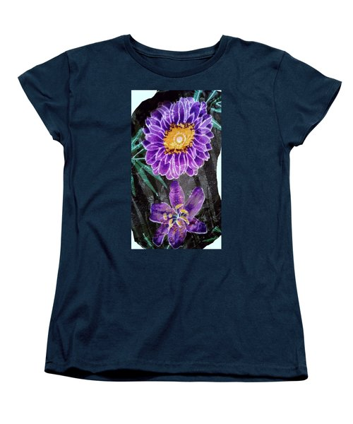 Women's T-Shirt (Standard Cut) featuring the photograph Purple Silk by Fortunate Findings Shirley Dickerson