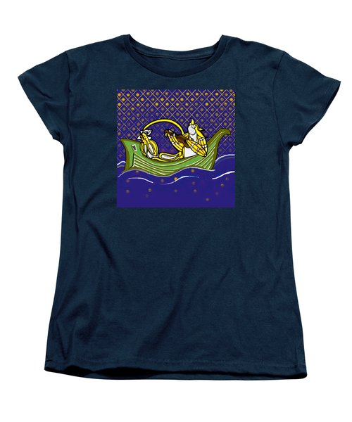 Pussycat And Owl Stars Women's T-Shirt (Standard Cut)