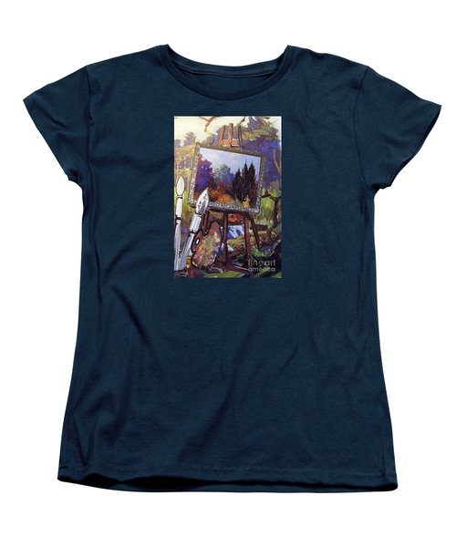Women's T-Shirt (Standard Cut) featuring the painting Put Color In Your Life by Eloise Schneider