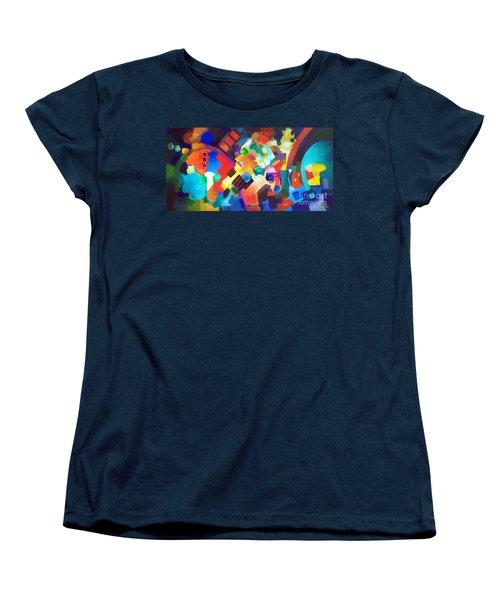 Put It Back Women's T-Shirt (Standard Cut) by Sally Trace