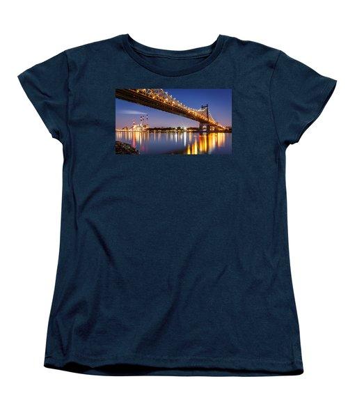 Queensboro Bridge Women's T-Shirt (Standard Cut) by Mihai Andritoiu