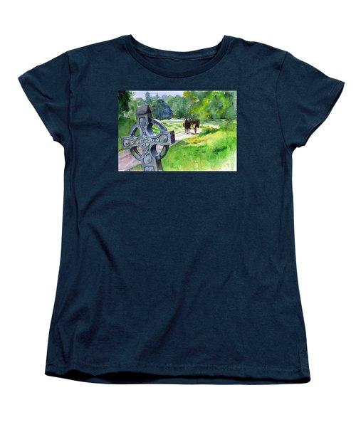 Quiet Man Watercolor 2 Women's T-Shirt (Standard Cut) by John D Benson