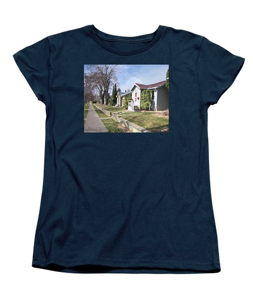 Quiet Street Waiting For Spring Women's T-Shirt (Standard Cut) by Donald S Hall