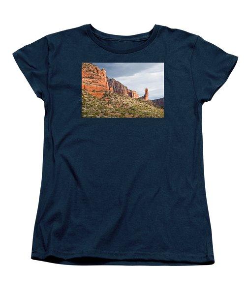 Rabbit Ears Spire At Sunset Women's T-Shirt (Standard Cut) by Jeff Goulden