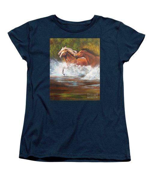 Race For Freedom Close Up Women's T-Shirt (Standard Cut) by Karen Kennedy Chatham