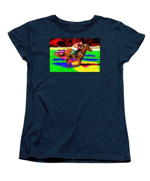 Racehorse Women's T-Shirt (Standard Cut) by Ron Harpham