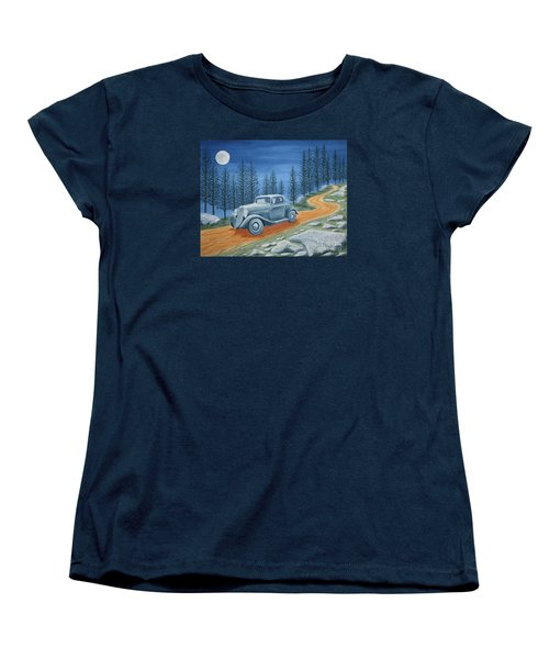 Women's T-Shirt (Standard Cut) featuring the painting Racing Was Born In North Carolina by Stacy C Bottoms
