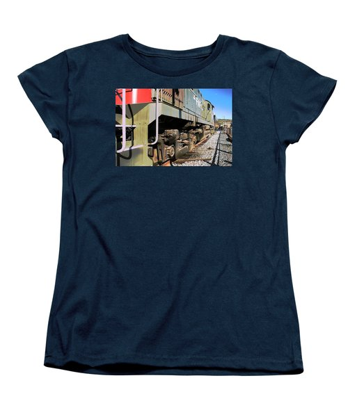 Women's T-Shirt (Standard Cut) featuring the photograph Rail Truck by Michael Gordon