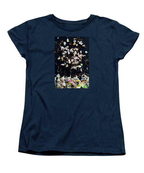 Rain Of Petals Women's T-Shirt (Standard Cut) by Edgar Laureano