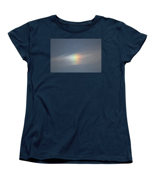 Women's T-Shirt (Standard Cut) featuring the photograph Rainbow In The Clouds by Eti Reid