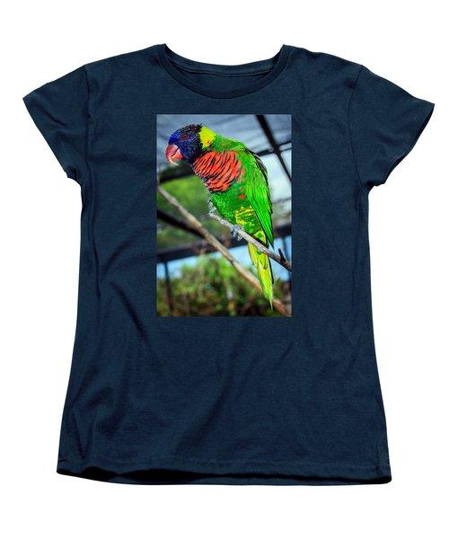 Women's T-Shirt (Standard Cut) featuring the photograph Rainbow Lory by Sennie Pierson