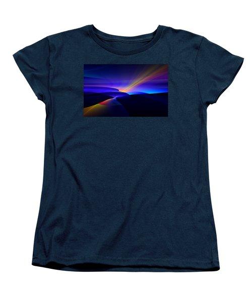 Rainbow Pathway Women's T-Shirt (Standard Cut) by GJ Blackman