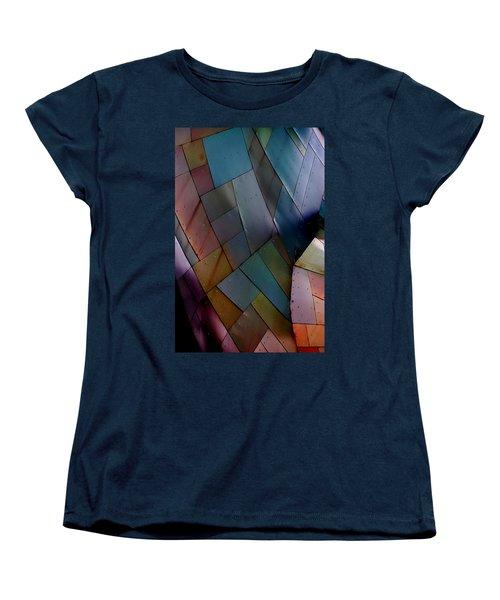 Rainbow Shingles Women's T-Shirt (Standard Cut)