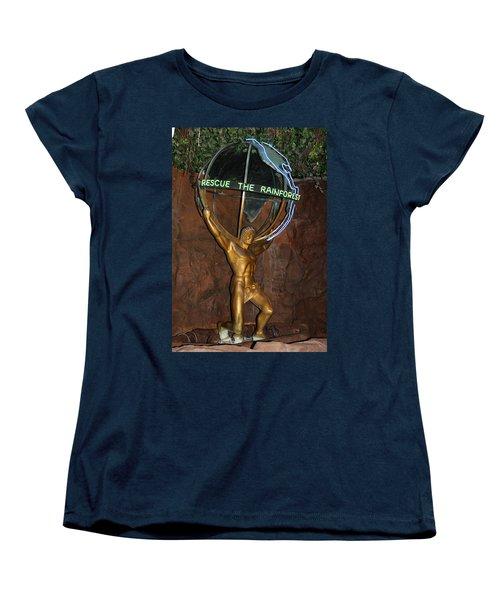 Women's T-Shirt (Standard Cut) featuring the photograph Rainforest Appeal by David Nicholls