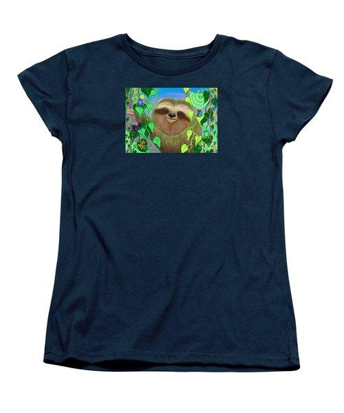 Rainforest Sloth Women's T-Shirt (Standard Cut)