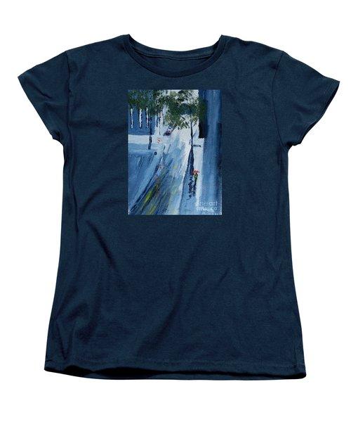 Raining Again Women's T-Shirt (Standard Cut) by Pamela  Meredith