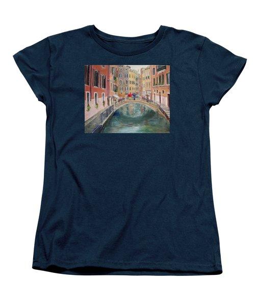Rainy Day In Venice Women's T-Shirt (Standard Cut) by Harriett Masterson