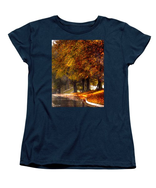 Women's T-Shirt (Standard Cut) featuring the photograph Rainy Day Path by Lesa Fine