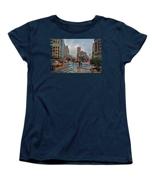 X-ing Broadway Women's T-Shirt (Standard Cut) by Jeffrey Friedkin