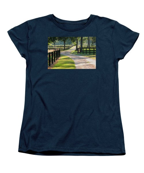 Women's T-Shirt (Standard Cut) featuring the photograph Ranch Road In Texas by Connie Fox