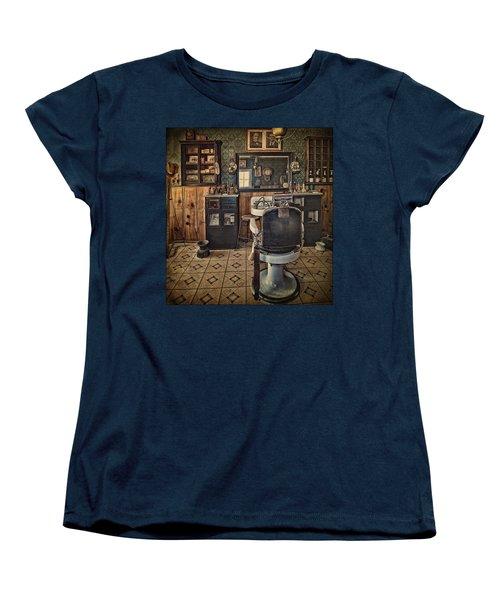 Randsburg Barber Shop Interior Women's T-Shirt (Standard Cut) by Priscilla Burgers
