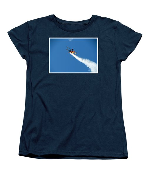 Reaching For The Moon. Oshkosh 2012. Postcard Border. Women's T-Shirt (Standard Cut) by Ausra Huntington nee Paulauskaite