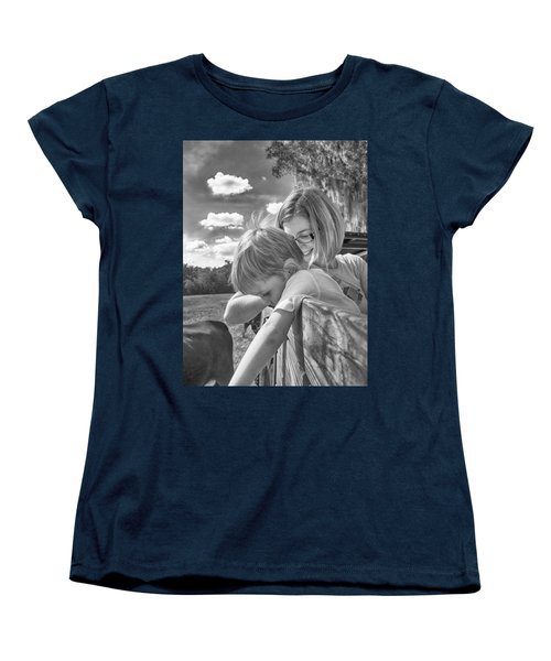Women's T-Shirt (Standard Cut) featuring the photograph Reaching by Howard Salmon
