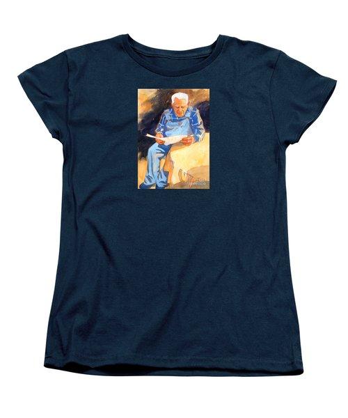 Reading Time Women's T-Shirt (Standard Cut) by Kathy Braud