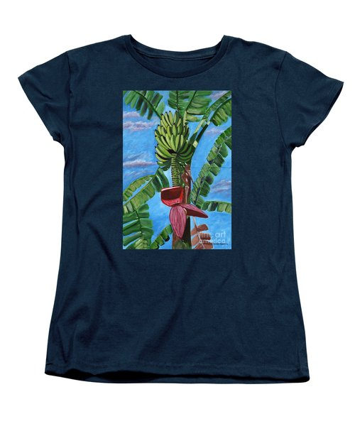 Women's T-Shirt (Standard Cut) featuring the painting Ready For Harvest by Laura Forde